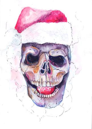 Santa\'s skull Stockfoto