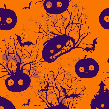 necropolis: Halloween funny decorative pattern vector ornament background