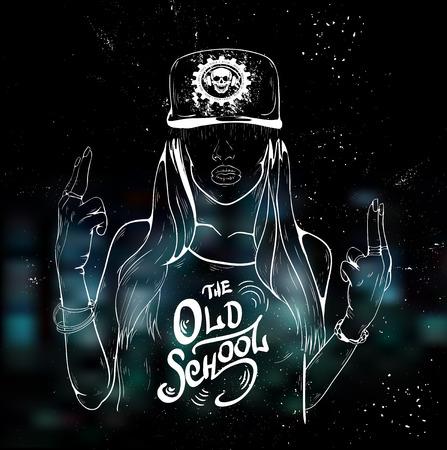 Pretty Young Urban Rap Girl