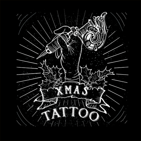 classic tattoo: Vintage Christmas Skull Collection