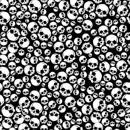 Pattern pirate skull wallpaper for tattoo parlor Stock Photo