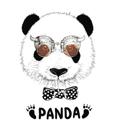 Baby panda face icon. Baby panda. Asian bear. Cute panda. Positive panda. Isolated panda head on white background. Panda head silhouette 向量圖像