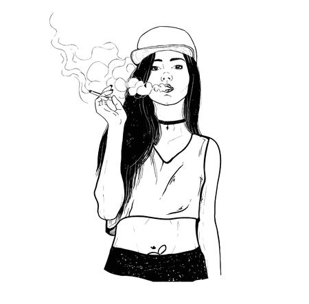 Rap smoking girl
