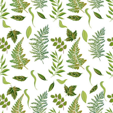 fall leaves: A Vector forest grassy seamless pattern illustration.