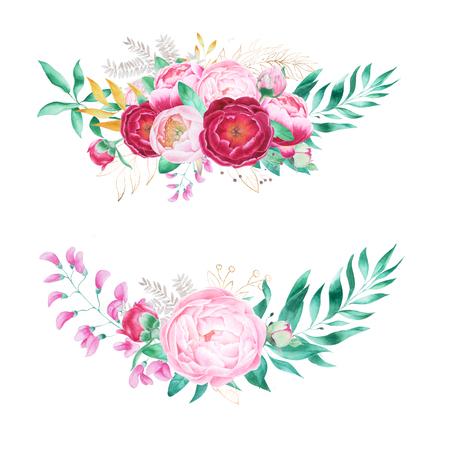 Arrangement of peony flowers