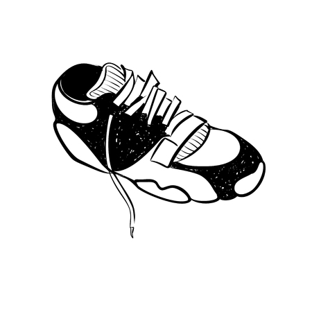 Sneaker. Running shoes glyph icon, fitness and sport, gym sign vector graphics, a solid pattern on a white background Illustration