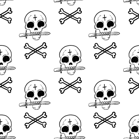 RAP hand drawn doodle seamless pattern. Sketches. Vector illustration for design and packages product. Symbol collection.