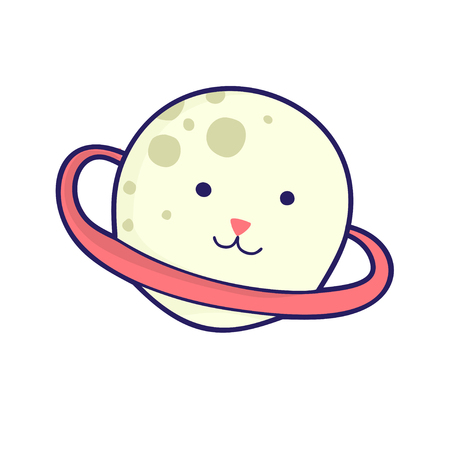Emoji cat head, cute illustration. It can be used for sticker, patch, phone case, poster, textile, t-shirt, mug and other design.