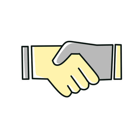 Handshake icon, great design for web. Flat abstract design.