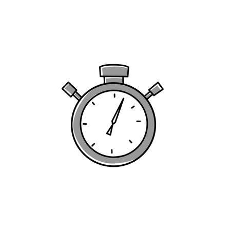 Flat stopwatch icon. Vector flat illustration. Clock Timer icon symbol
