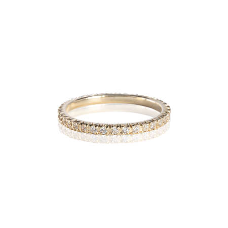Diamonds Wedding three colors Ring group on white isolated