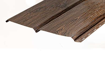 Blockhouse rails for fence colored colorful metal profile elements Standard-Bild