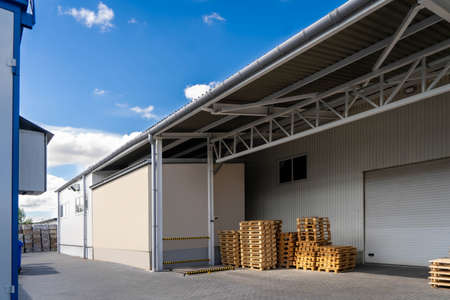 lumber and warehouse territory yard in perspective view