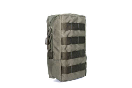 Multifunctional Tactical Weekender Convertible Outdoor Travel Canvas Backpack Isolated on White. Modern Camping Traveler Back Pack Bag Shoulder Straps and Haul Loop. Tactical Hiking Backpack