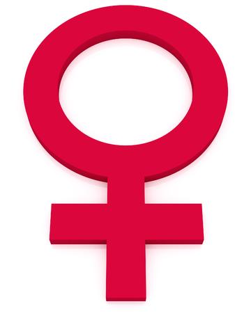 feminine: feminine symbol, bright pink woman sign isolated