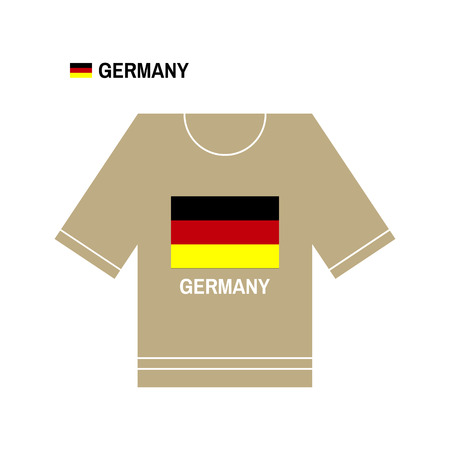 european championship: German t-shirt symbol. Germany National sport team isolated on white. European Championship. Illustration