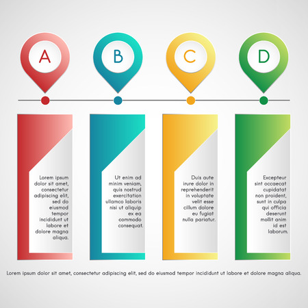 pointers: infographics isolated. Colorful text boxes with pointers