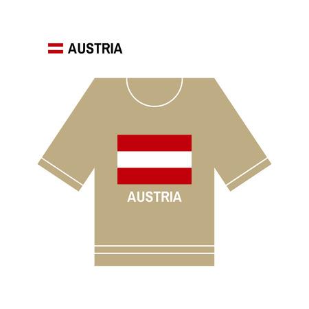 austrian: Austrian t-shirt symbol. Austria National sport team isolated on white. European Championship. Illustration