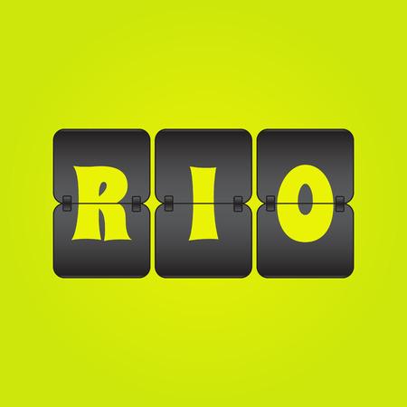 indicator board: Green and Yellow Rio Brazil Scoreboard
