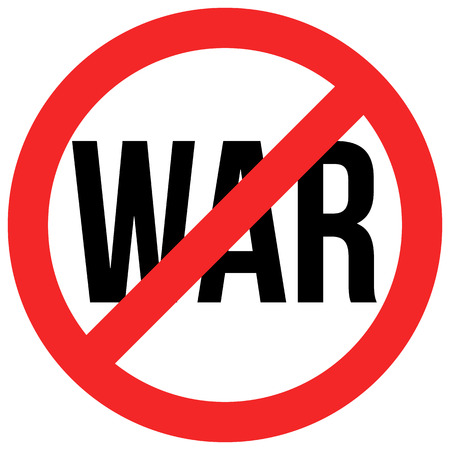 Stop war red and black isolated symbol Stock Photo
