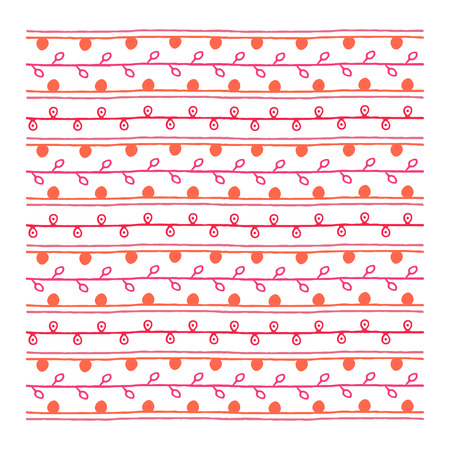 endless: Twig ornament, red endless pattern