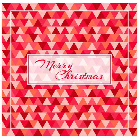 greeting card background: Merry Christmas greeting card, red triangle background