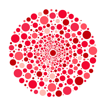 pink bubbles: Circle ornament, red and pink bubbles pattern isolated