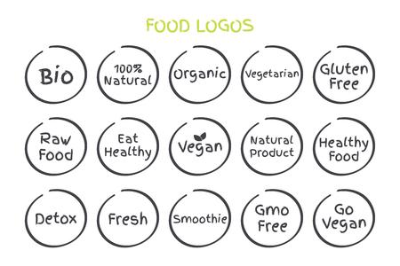 Set of Healthy Food Symbols  イラスト・ベクター素材