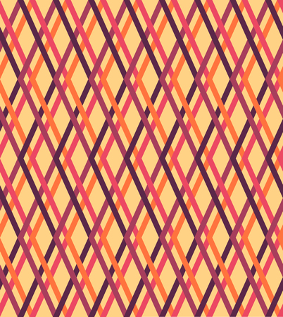 checked: Orange pink purple checked texture, seamless background