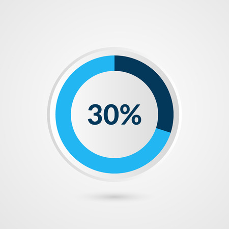 30 percent pie chart symbol percentage vector infographics 30 percent blue grey and white pie chart percentage vector infographics circle diagram business ccuart Choice Image