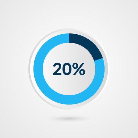 20 percent blue grey and white pie chart percentage vector 20 percent blue grey and white pie chart percentage vector infographics circle diagram business ccuart Image collections