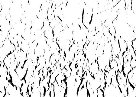 しわくちゃ紙ベクトル パターン。黒と白はくしゃくしゃの背景です。しわのテンプレート テクスチャを抽象化します。装飾、デザインのためサンプ