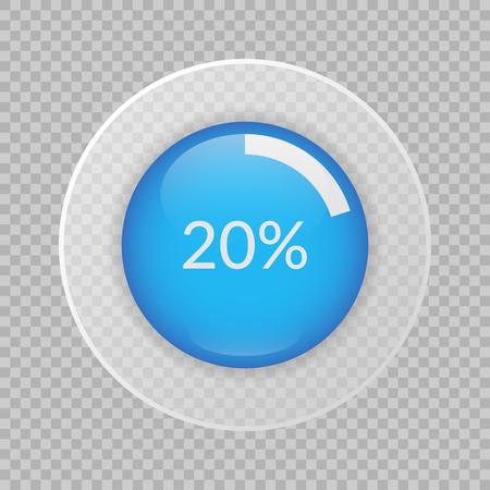 20 percent pie chart vector illustration