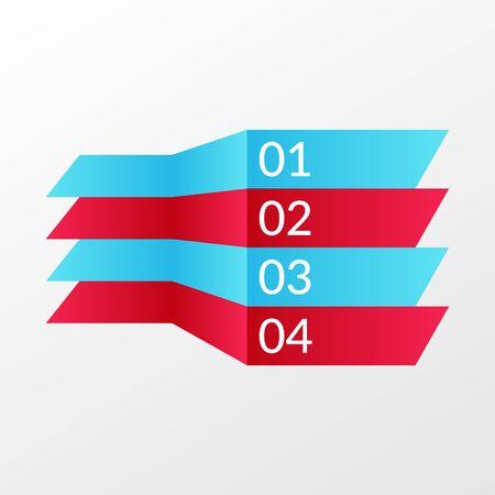 4 steps infographic sign. Lines symbols for business, web design.