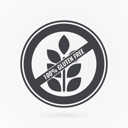 Gluten free label. Illustration symbol for product, package, healthy eating, lifestyle, celiac disease, shop, menu