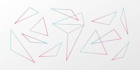 Abstract vector background. Gradient triangle geometric pattern. Blue red white ilustration for web, futuristic design, concept, decoration