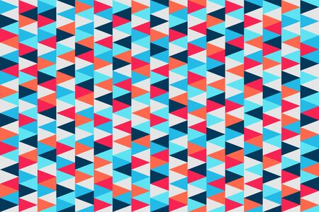 Abstract triangle pattern. Colorful Christmas seamless background for illustration, design, decoration