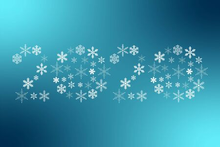 2020 New Year snowflakes sign. Icon for decoration, design, celebration, winter, holiday, illustration, symbol