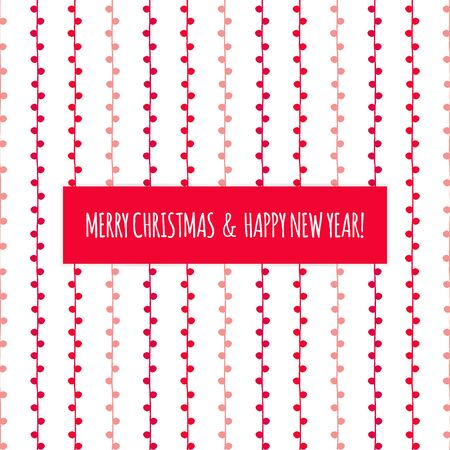 Merry Christmas and Happy New Year twig pattern. Red hand drawn background for illustration, design, decoration, celebration, congratulation, greeting card Ilustração