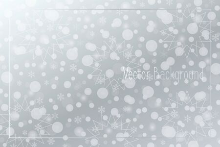 Snowflakes vector background. Snow pattern. Silver Christmas illustration for decoration, winter holiday, design, celebration, frame, greeting card