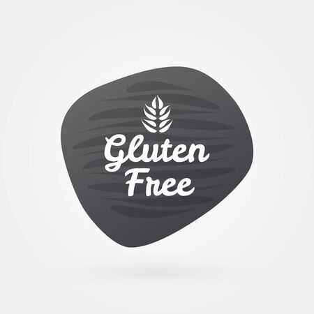 Gluten free icon. Gray white vector sign isolated. Illustration symbol for food, product sticker,   package, label, diet, design element