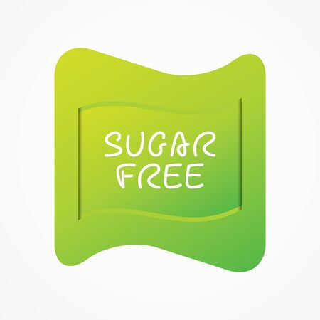 Sugar free icon. Green gradient vector sign isolated. Illustration symbol for food, product sticker, package, label, healthy eating, design, diet, diabetes, diabetic