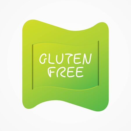 Gluten Free icon. Green gradient vector sign isolated. Illustration symbol for food, product sticker, label, healthy eating, special diet, celiac disease Иллюстрация