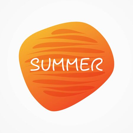 Summer vector icon. Orange gradient isolated symbol for holiday, event, party, travel, season, relax, concept, design element