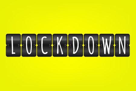 Lockdown flip symbol. Scoreboard icon. Sign based on coronavirus pandemic disease