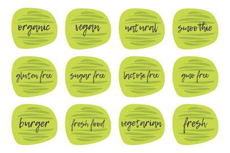 Organic illustration product sticker