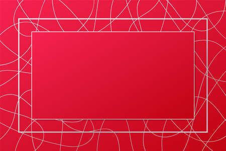 Vector frame illustration. Red and silver banner. Abstract background for decoration, celebration, card design