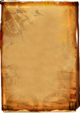 digital background with a dark frame and torn edges. good for photo-editing Stock Photo
