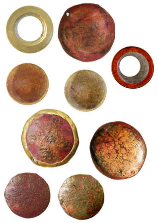 round rusted cameos for digital scrapbooking Stock Photo - 269765