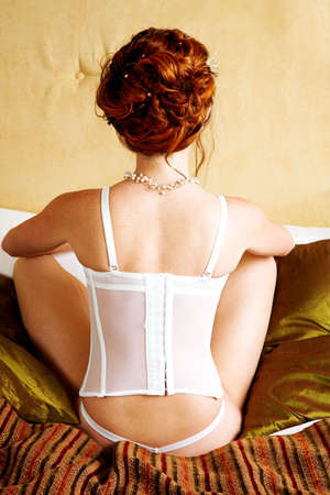 Woman in corset from the back Stock Photo - 443193